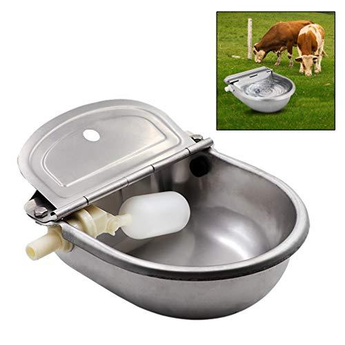 Vieh Zufuhr Ranch Edelstahl Waterer Bowl mit Scupper für Pferdehundeviehziege Schaf Schwein Schwimmerventil -