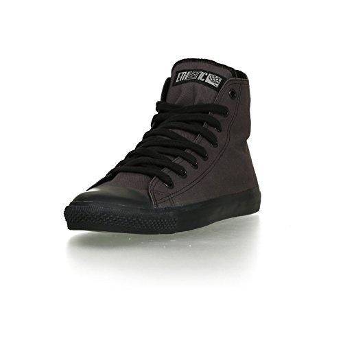 Ethletic Black Cap vegan HiCut - Farbe pewter grey / black aus Bio-Baumwolle Größe 39 - 2