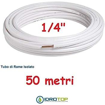 TUBO ROTOLO RAME 50 MT.1//4 50 MT.3//8 CONDIZIONAMENTO CLIMATIZZATORE SMISOL KME