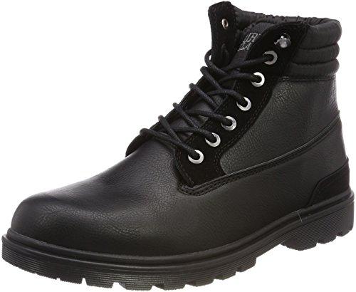 Urban Classics Winter Boots, Botas Chukka Para Hombre, Negro (Black/Black), 45 EU