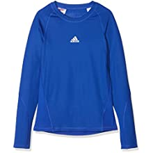 Adidas Kid's AlphaSkin Long Sleeve Tee, Bold Blue, Size 164 (Manufacturer size:XL)