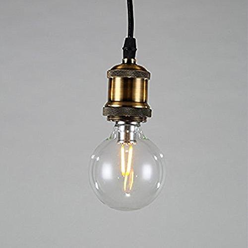 Asvert Pendant Light Industrial Clear Glass Globe Pendant Ceiling Lighting  Antique Hanging 1 Light Fixture