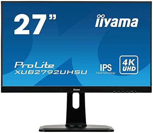 "iiyama ProLite XUB2792UHSU-B1 68,4cm (27"") IPS LED-Monitor 4K UHD (DVI, HDMI, DisplayPort, 2xUSB3.0, Ultra-Slim-Line, Höhenverstellung, Pivot) schwarz"