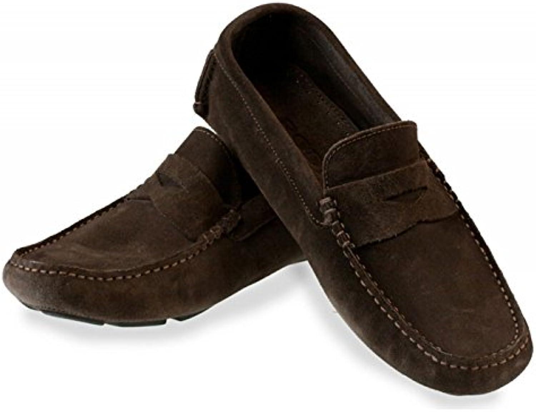 Rodi para hombre zapatos de diseño de bandera de Italia con inserciones de Misano - ante marrón
