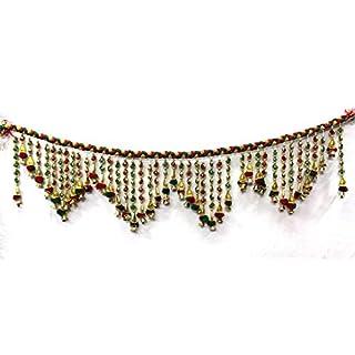 Amba Handicraft Door Hanging Toran Window Valance Dream Catcher Home Décor interior pooja bandanwaar Diwali gift festival colorful indian handicraft love.TORAN105