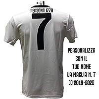 DND di D'Andolfo Ciro Maglia Calcio bianconera Numero 7 Replica autorizzata 2019-2020 Taglie da Bambino e Adulto. Personalizza con Il Tuo Nome (10 Anni)