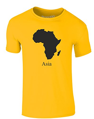 Brand88 - Asia, Erwachsene Gedrucktes T-Shirt Gänseblümchen-Gelb/Schwarz