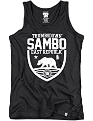 Sambo East Republic Tank Top. Vest. Polar Bear. Thumbsdown Last Fight. Gladiator Bloodline. Martial Arts. Fightwear. Training. Casual. Gym. MMA T-shirt