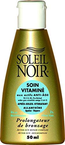 SOLEIL NOIR 19 Soin Vitaminé Après-soleil Hydratant Prolongateur de Bronzage