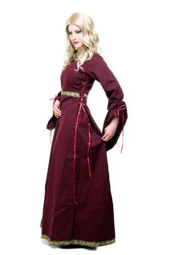 Kostüm Damen Damenkostüm Kleid Mittelalter Romanik Gotik Gothic Burgfräulein L054 Gr. 46 / L - 3