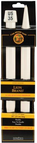 Lion Brand Fil Fil 19 mm Aiguilles à Tricoter écharpe, Taille 35,