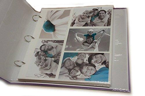 ARPAN 20 Hojas de Recambio para álbum de Fotos de 15 x 10 cm, 200 Anillas Grandes