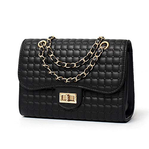 0f4870d18 WZXHN Shoulder Bags For Women Luxury Pu Women Handbag Black Candy Color  Lattice Crossbody Shoulder Bag For Girls Messenger Bags Chain Summer Bags