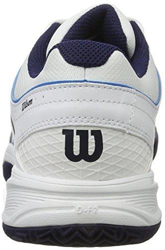 Wilson Tour Vision V, Scarpe da Tennis Uomo Bianco (White/Methyl Blue/Navy)
