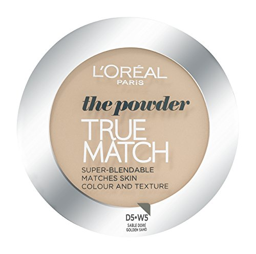 L'Oréal Paris True Match, Cipria, W5 Golden Sand, 9 g, W5