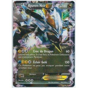 Nintendo - Carte Pokémon KYUREM NOIR EX HOLO REVERSE 101/149 Noir & Blanc Frontières Franchies