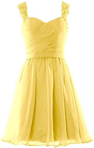 MACloth - Robe - Trapèze - Sans Manche - Femme Jaune - Daffodil