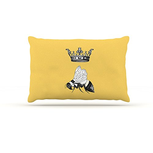 Kess eigene Catherine Holcombe Queen Bee Hundebett aus Fleece, 50von 152,4cm kanariengelb