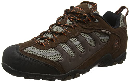 Hi-Tec Penrith Low Waterproof, Scarpe da Arrampicata Uomo Marrone (Chocolate/orange)