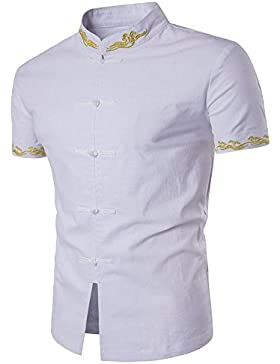 Uomo T-Shirt Moda Top Shirt Chic