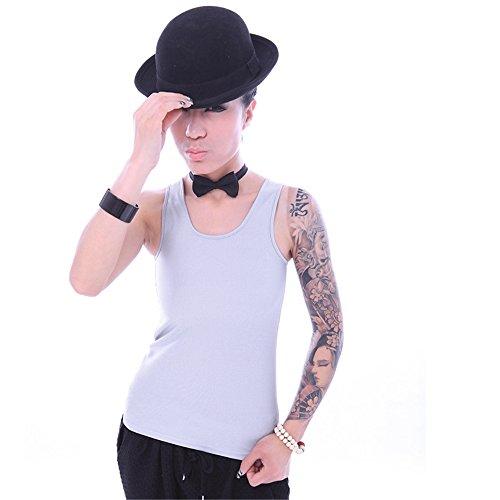 BaronHong Chest Binder Corto Corsetto Sport Reggiseno Vest Tank Top Underwear Per Tomboy Lesbiche Grigio