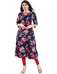 ALC Creations Women's Crepe Printed A-line Kurti