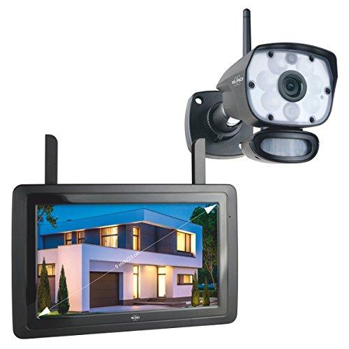 """ELRO CZ60RIPS Color Night Vision 1080P HD Überwachungs-Kamera Set mit 9"""" Bildschirm und App"""