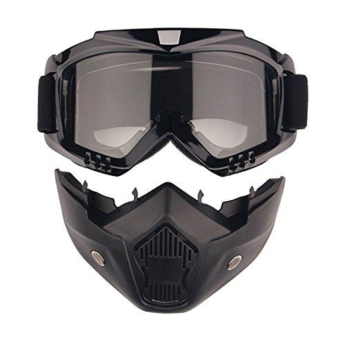 EnzoDate Motorrad Dirt Bike ATV Schutzbrille Maske Abnehmbare Harley Style Schützen Polsterung Helm Sonnenbrille Rennrad UV Motorrad Brille
