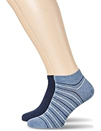 Tommy Hilfiger Th Men Washed Stripe Sneaker 2p, Socquettes et Chaussettes de Sport Homme, (lot de 2)
