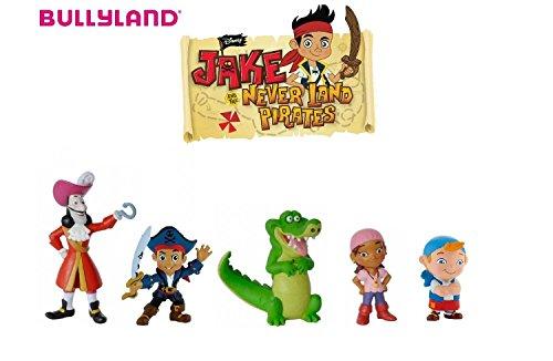 Bullyland Walt Disney Käpt'n Jake - Izzy - Tick Tack - Cubby - Käpt'n Hook - 5 Figuren (Jake Der Pirat-figuren)