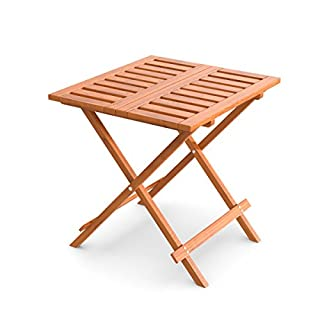 | Wooden Folding Garden Table for Garden, Patio & Deck Coffee Table, Coffee Table or Acoustic All Weather Garden Furniture in Vorbehandeltem Wood