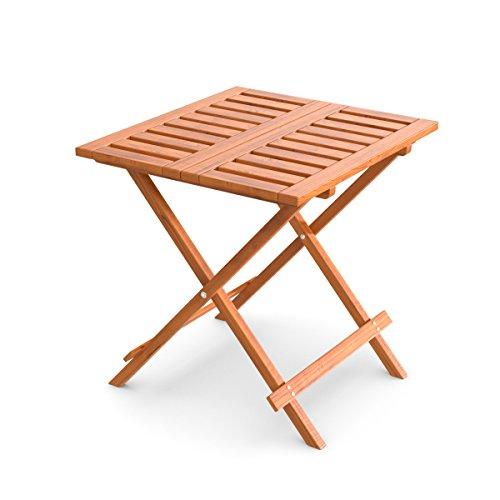 Ampel 24 Table d'appoint pliante pour jardin, balcon, terrasse ou intèrieur | bois prétraité | 50 x 50 cm | table de jardin en bois de mélèze