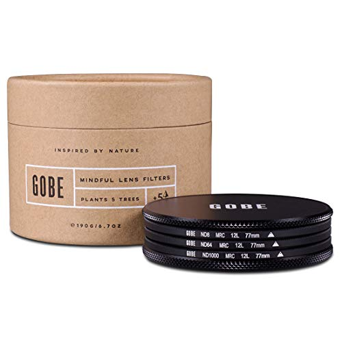 Gobe ND8, ND64, ND1000 Filter Kit 77mm MRC 12-lagig