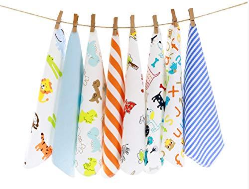 CuteOn Pack von 8 Super Weichen Baby Waschlappen -