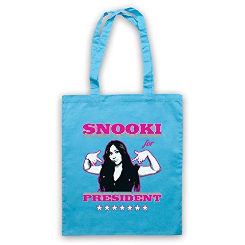 Inspiriert durch Jersey Shore Snooki For President Inoffiziell Umhangetaschen Hellblau