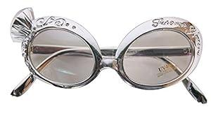 CREATIVE Gafas de Fiesta Gafas de diamantes y plata Delu