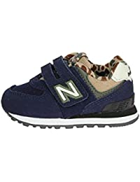 New Balance IV574 HN Blu Scarpe Bambino Strappo Sneakers Camouflage