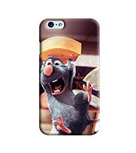 Blue Throat Mouse With Cheese Printed Designer Back Cover/Case For Apple iPhone 6