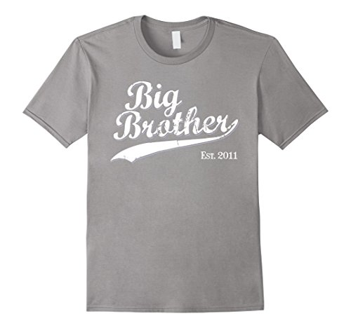 t 2011 Gift T-shirt for New Brother Tshirt Medium Slate (Big Brother Halloween)