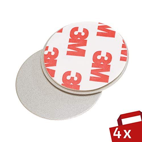Magnet Befestigung für Rauchmelder 4er Set - Für einfache und sichere Montage ohne Bohren - Magnethalter Ø 35mm für Feuermelder - Brandmelder Magnethalterung Haltekraft 500g