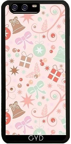 SilikonHülle für Huawei P10 - Nahtlose Muster Weihnachten by Elisabeth