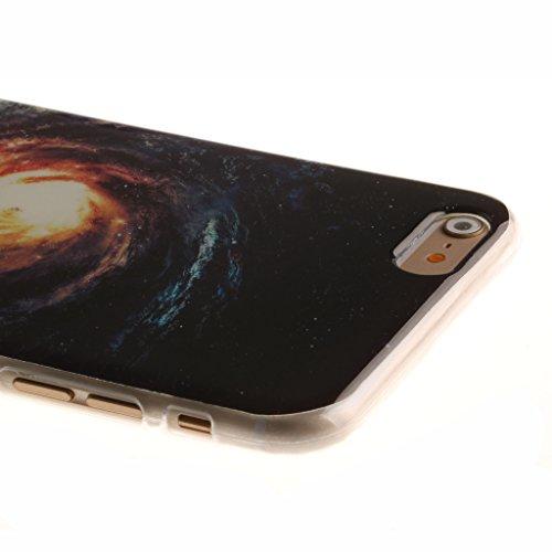 "iphone 6 Coque, SsHhUu [Milky Way] Ultra Slim Doux TPU Flexible Durable Gel Silicone Protecteur Rear Skin Painting Art Étui Housse Case Cover pour Apple iphone 6 6S (4.7"") Galaxy"