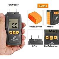 Preisvergleich für Dailyinshop BENETECH GM605 Digital LCD Display Holzfeuchtigkeitsmesser Luftfeuchtigkeit Tester Holz Papier Baum Feuchtemesser 2 Pins Hygrometer (Farbe: Orange & Schwarz)
