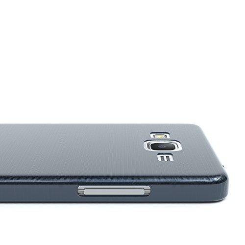 Samsung Galaxy Grand Prime Hülle - EAZY CASE Ultra Slim Cover Handyhülle - dünne Schutzhülle aus Silikon in Transparent Brushed Dunkelblau