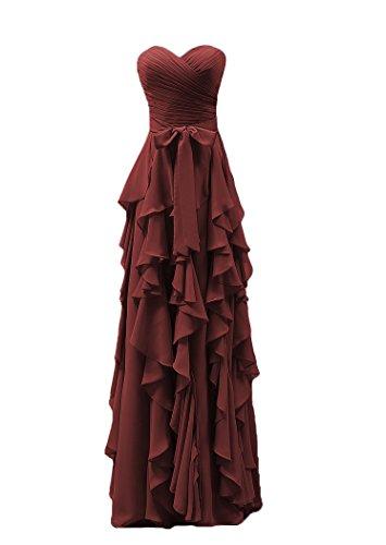 Bridal_Mall -  Vestito  - linea ad a - Senza maniche  - Donna Marrone