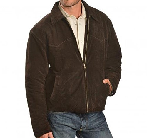 Best Mens Western Cowboy Genuine Suede Leather Jackets Fringe 89 XL -