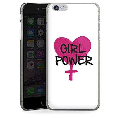 Apple iPhone X Silikon Hülle Case Schutzhülle Mädchen Girl Herz Hard Case anthrazit-klar