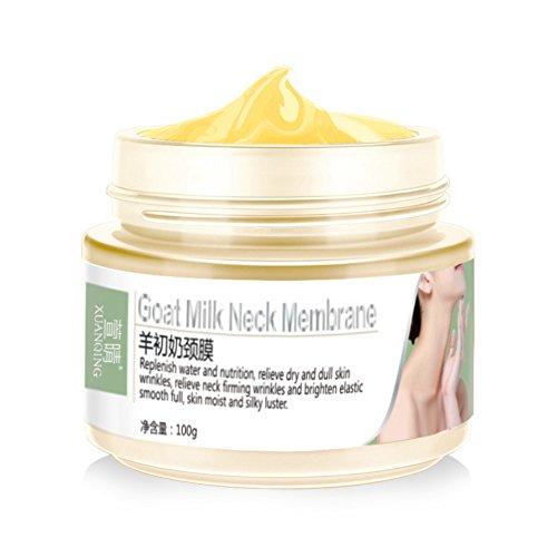 Hals-Sorgfalt-Creme, Ziegenmilch-Membran-Hals-Maske, die Antifalten-Altern-Ansatz-Hautpflege weiß wird 100g