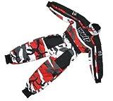Bambini tuta motocross : WULFSPORT Junior 1 pezzo Suit Tuta moto intera da...