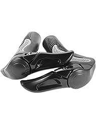 Sixwolves Puños Manillar de Bicicleta Diseño ergonómico Caucho Bicicleta de Montaña MTB (Negro)